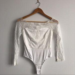 revolve x superdown lace bodysuit